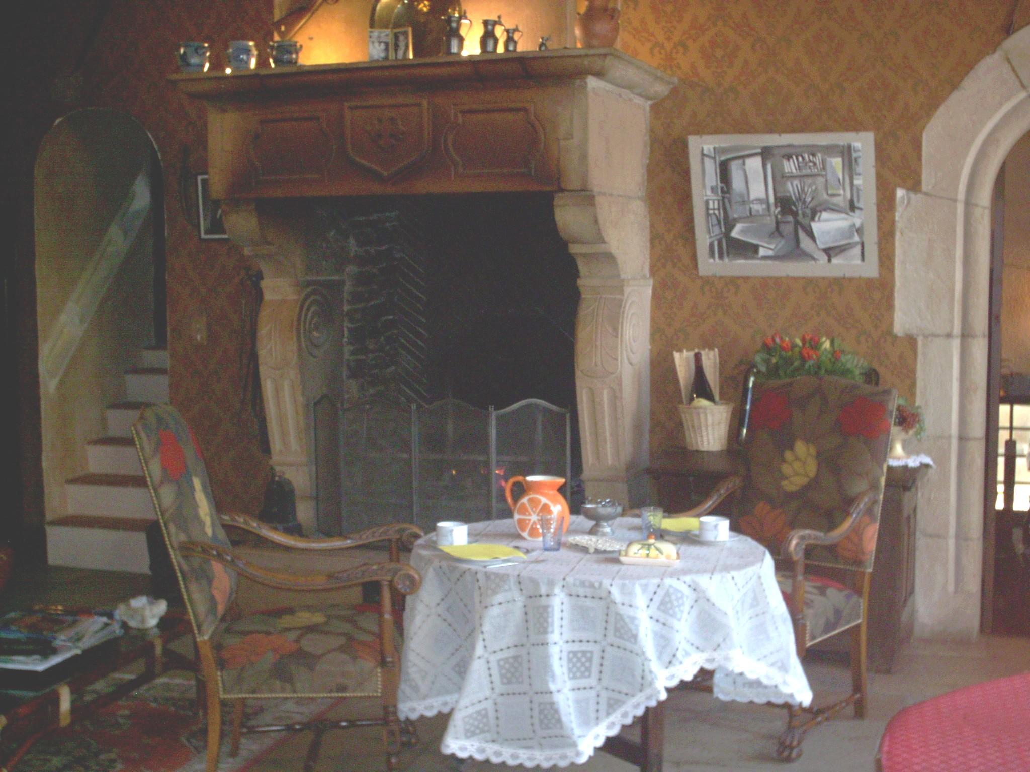 La cheminée de la salle à manger